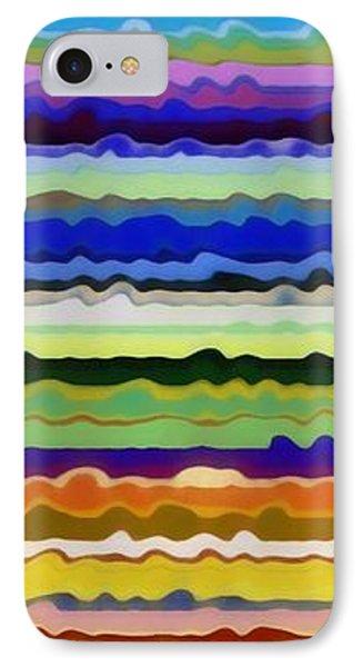 Color Waves No. 5 Phone Case by Michelle Calkins