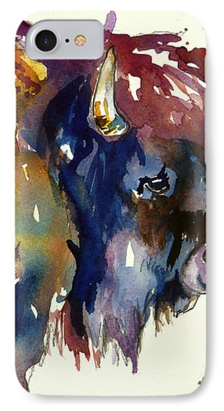 IPhone Case featuring the painting Colorado Buffalo by P Maure Bausch