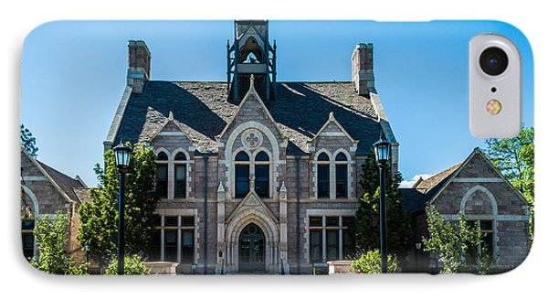Colorado College Cutler Hall IPhone Case by Ray Sheley