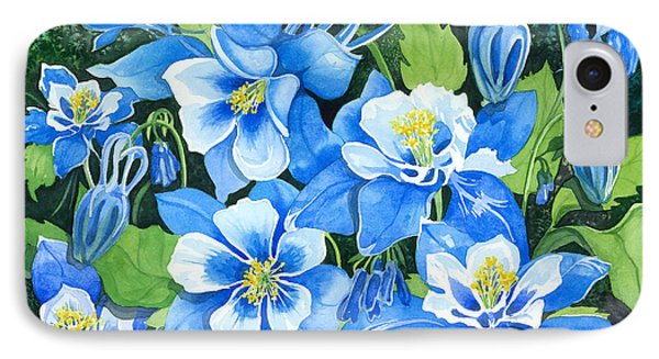 Colorado Columbines IPhone Case by Barbara Jewell