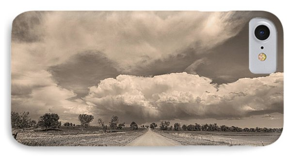 Colorado Country Road Sepia Stormin Skies Phone Case by James BO  Insogna