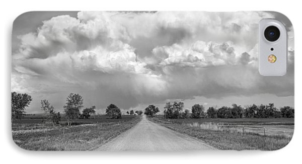 Colorado Country Road Stormin Bw Skies Phone Case by James BO  Insogna