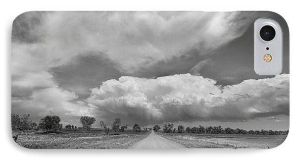 Colorado Country Road Stormin Skies Bw Phone Case by James BO  Insogna