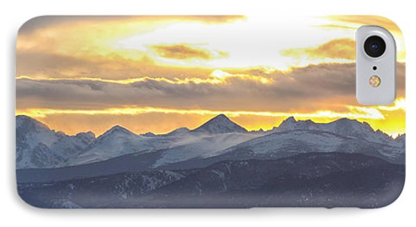 Colorado Front Range Panorama Gold IPhone Case by James BO  Insogna