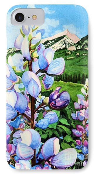 Colorado Summer Blues Close-up IPhone Case by Barbara Jewell