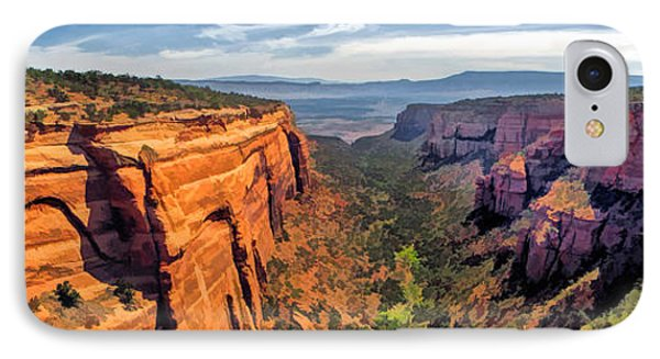 Colorado National Monument Red Canyon Panorama IPhone Case by Christopher Arndt
