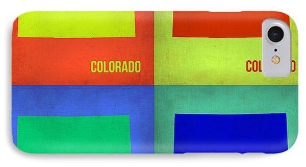 Colorado Pop Art Map 2 Phone Case by Naxart Studio