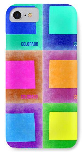 Colorado Pop Art Map 3 IPhone Case by Naxart Studio