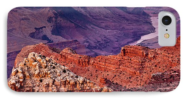 Colorado River, Lipan Point, South Rim IPhone Case by Michel Hersen