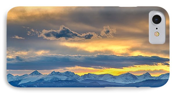 Colorado Rocky Mountain Front Range Sunset Gold IPhone Case by James BO  Insogna