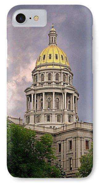 Colorado State Capitol Building Denver Co Phone Case by Christine Till