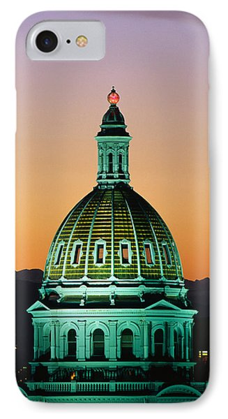 Colorado State Capitol Building Denver IPhone Case by Panoramic Images