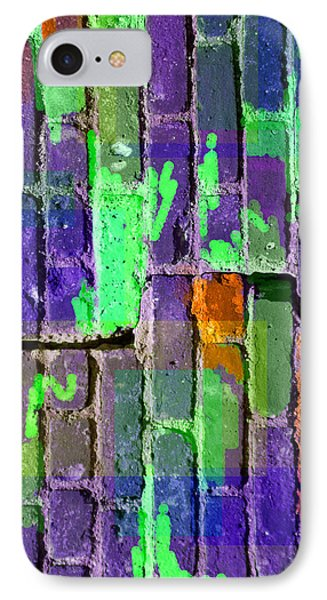 Colored Brick And Mortar 4 IPhone Case by Lynda Lehmann