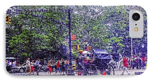 Colored Memories - Central Park IPhone Case by Madeline Ellis