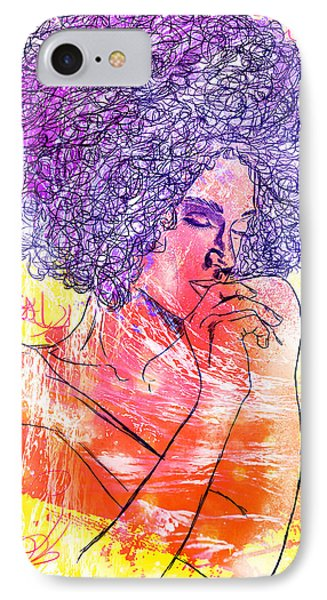 Colored Woman Phone Case by Kenal Louis