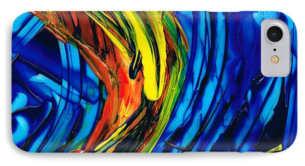 Colorful Abstract Art - Energy Flow 2 - By Sharon Cummings IPhone Case by Sharon Cummings