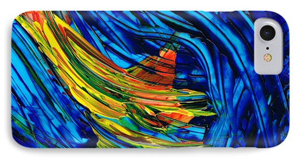 Colorful Abstract Art - Energy Flow 3 - By Sharon Cummings IPhone Case