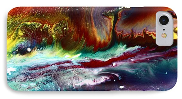 Colorful Abstract Art Vivid Colors Rainbow Landscape By Kredart  IPhone Case by Serg Wiaderny