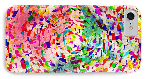 Colorful Abstract Circles Phone Case by Susan Leggett