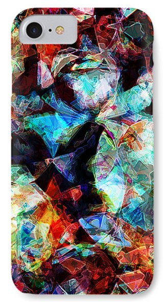 IPhone Case featuring the digital art Colorful Abstract Design by Phil Perkins