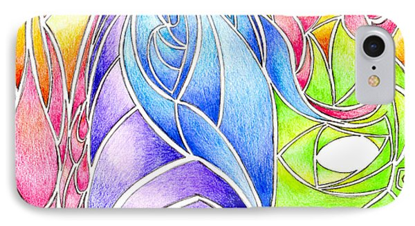 Colorful Abstract Drawing Phone Case by Minding My  Visions by Adri and Ray