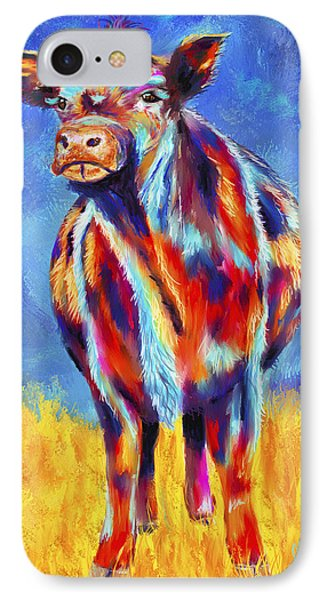 Colorful Angus Cow Phone Case by Michelle Wrighton
