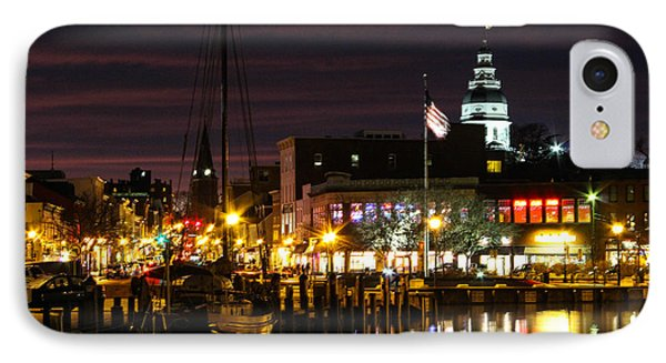 Colorful Annapolis Evening IPhone Case by Jennifer Casey