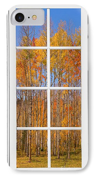 Colorful Aspen Tree View White Window Phone Case by James BO  Insogna