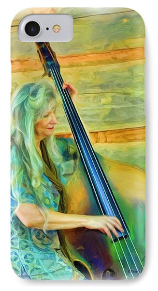Colorful Bass Fiddle IPhone Case by Kenny Francis