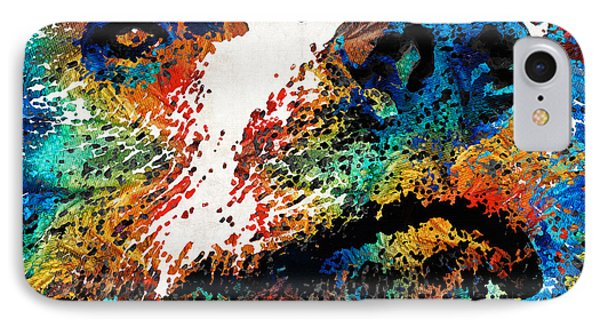 Colorful Bear Art - Bear Stare - By Sharon Cummings IPhone Case