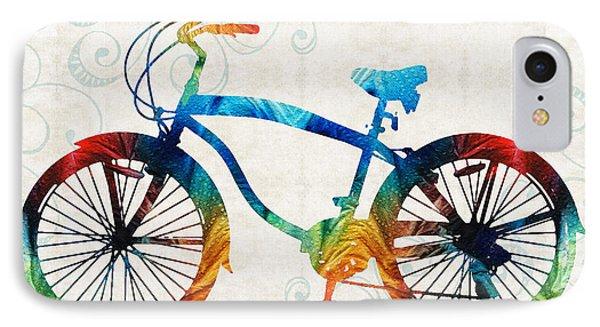 Colorful Bike Art - Free Spirit - By Sharon Cummings IPhone Case by Sharon Cummings