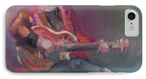 Colorful Blues Singer IPhone Case by Eva Marie Tanner-Klaas