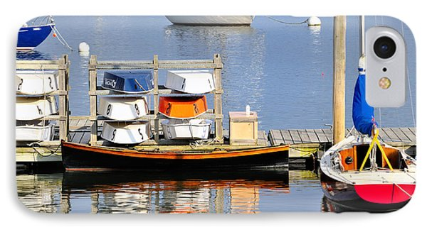 Colorful Boats Rockland Maine Phone Case by Marianne Campolongo
