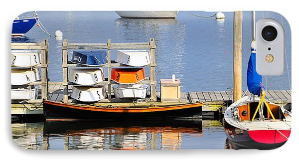 Colorful Boats Rockland Maine IPhone Case