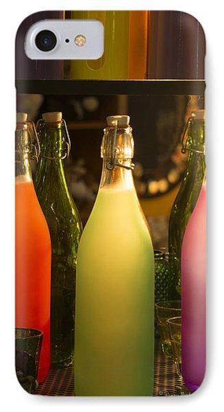 Colorful Bottles Closeup IPhone Case