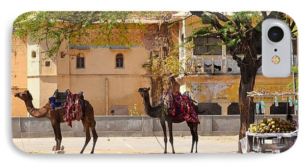 Colorful Camels - Jaipur India Phone Case by Kim Bemis