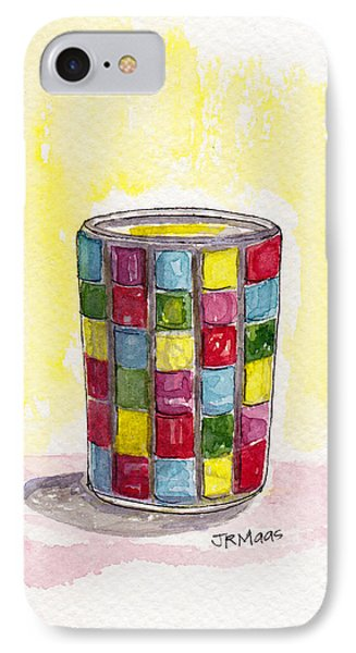 Colorful Candleholder IPhone Case by Julie Maas