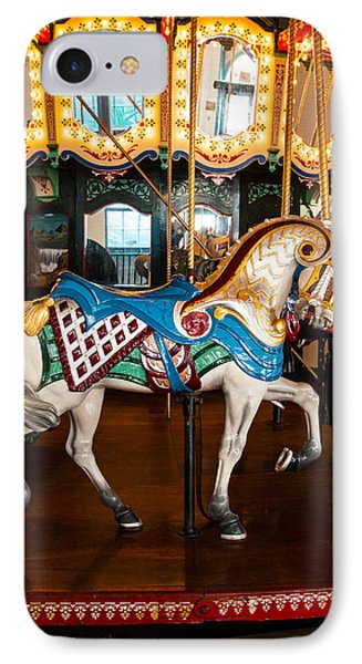 IPhone Case featuring the photograph Colorful Carousel Horse by Jerry Cowart