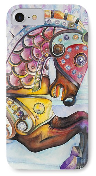 Colorful Carousel Horse  Phone Case by Patty Vicknair