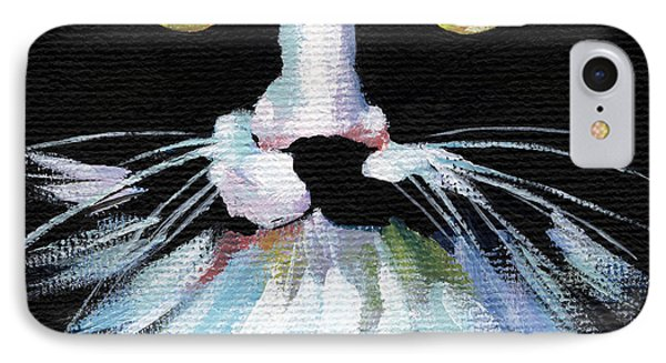 Colorful Cat IPhone Case by Natasha Denger