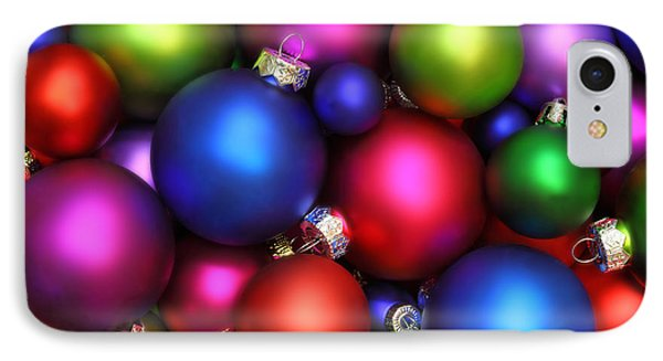 Colorful Christmas Ornaments IPhone Case by Pattie Calfy