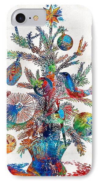 Colorful Christmas Tree Art By Sharon Cummings IPhone Case by Sharon Cummings