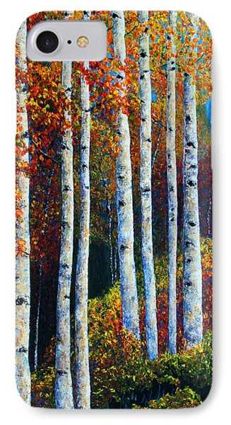 IPhone Case featuring the painting Colorful Colordo Aspens by Jennifer Godshalk