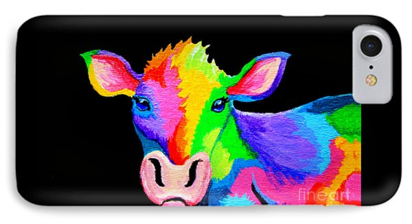 Colorful Cow-cow-a-bunga Phone Case by Nick Gustafson