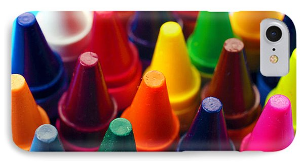 Colorful Crayons Closeup IPhone Case