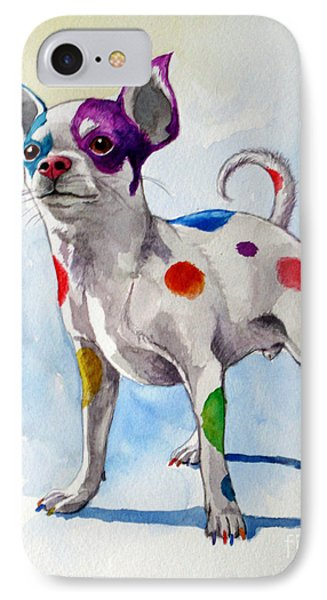 Colorful Dalmatian Chihuahua Phone Case by Christopher Shellhammer