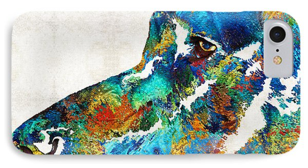 Colorful Dog Art - Loving Eyes - By Sharon Cummings  IPhone Case