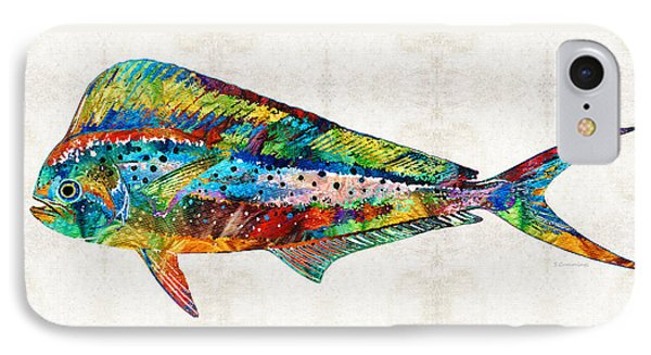Colorful Dolphin Fish By Sharon Cummings IPhone 7 Case by Sharon Cummings