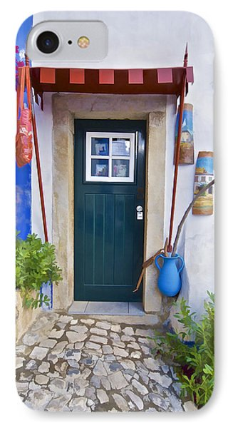 Colorful Door Of Obidos Phone Case by David Letts