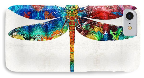 Colorful Dragonfly Art By Sharon Cummings IPhone Case